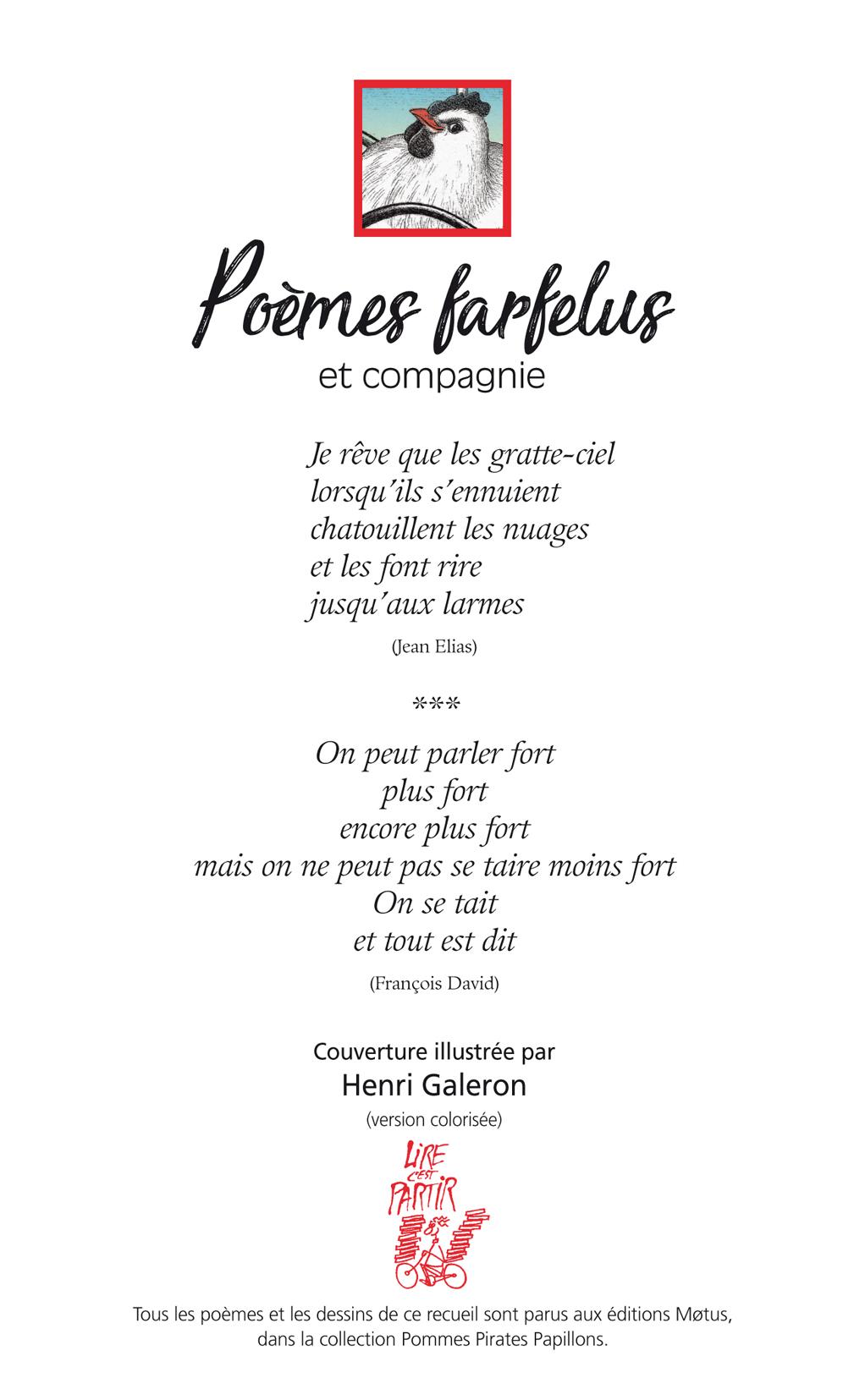 Poèmes Farfelus Et Compagnie Lire Cest Partir